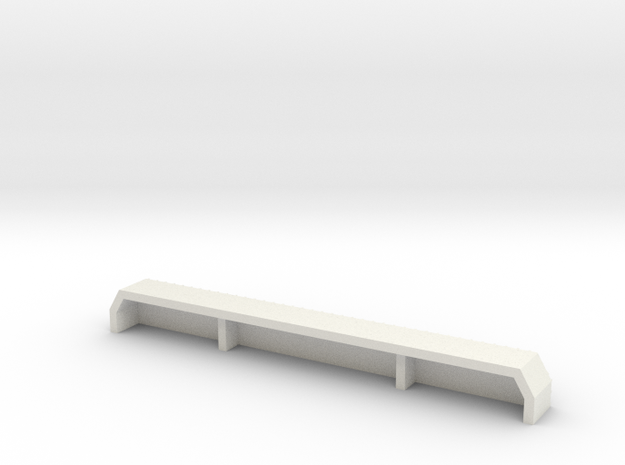 BF1-2-3-4  REAR BUMPER - 1/10 in White Natural Versatile Plastic