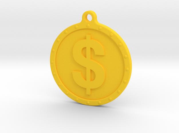 YouTube Demonetized Keychain/Badge in Yellow Processed Versatile Plastic