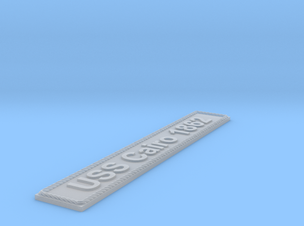 Nameplate USS Cairo 1862 in Smoothest Fine Detail Plastic