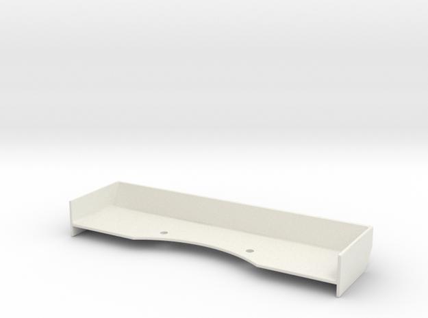 Mini-Z Spoiler v2-12C GT3 (Wide) in White Natural Versatile Plastic