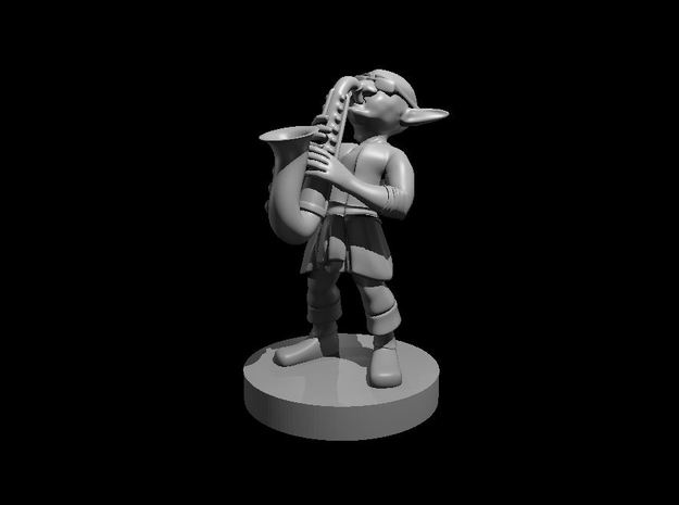 Goblin Saxophone Bard in Smooth Fine Detail Plastic