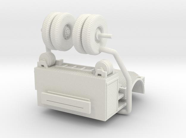 1/87 Philadelphia KME Tiller Rear Tractor Section in White Natural Versatile Plastic