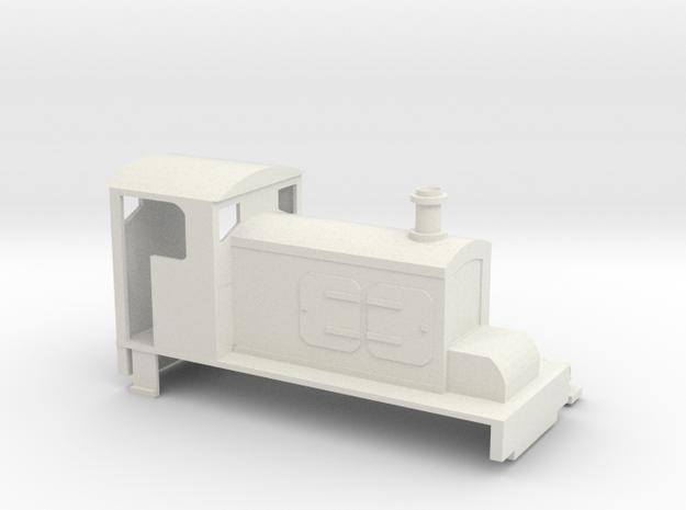 009 Hudswell Clarke style diesel in White Natural Versatile Plastic
