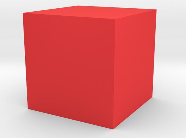cube 1 cm in Musical Instruments in Red Processed Versatile Plastic