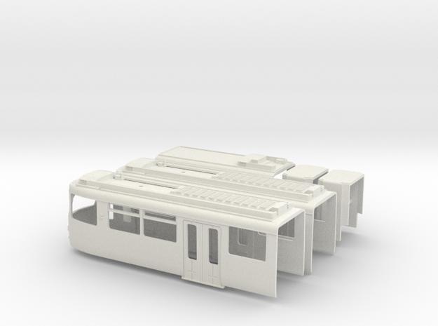 Gehäuse Rheinbahn GT8S in White Natural Versatile Plastic