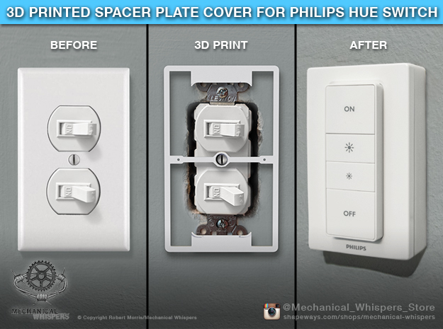 Philips Switch Duplex Toggle Plate (Set of 2) in White Natural Versatile Plastic
