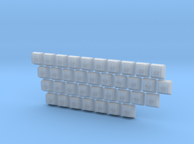 Braille Keycaps (full alphanumeric set) in Smooth Fine Detail Plastic: Extra Large