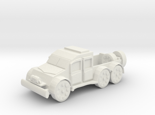 Armour Car Pickup in White Natural Versatile Plastic