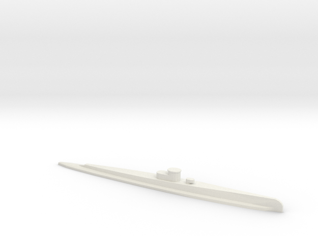 Dutch O 19-Class Submarine in White Natural Versatile Plastic: 1:600