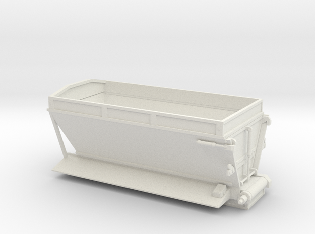 1/64th Etnyre live bottom straight truck body in White Natural Versatile Plastic