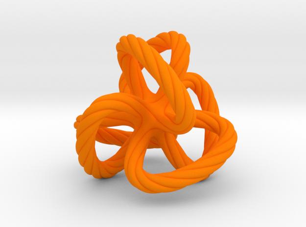 Dodecahedron quadroloop in Orange Processed Versatile Plastic