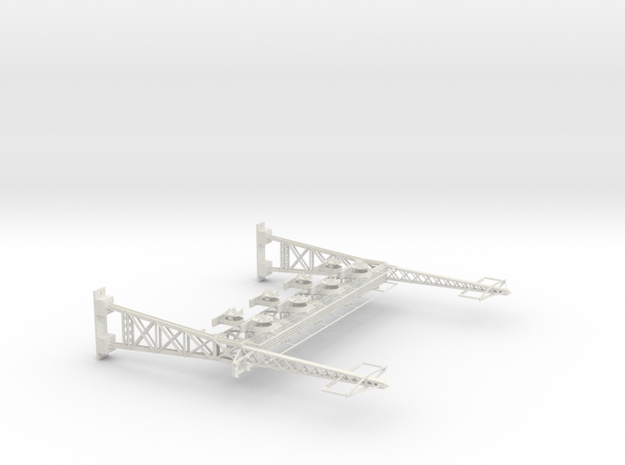 HO Scale PRR W--signal LATTICE 4 Track  W 2 PHASE  in White Natural Versatile Plastic