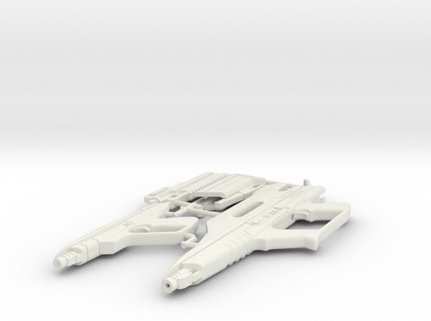 1/6 STARLYTE PISTOL & RIFLE  in White Natural Versatile Plastic