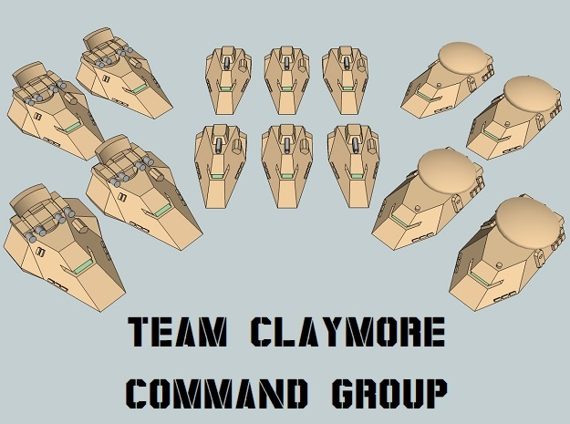 """Team Claymore"" 3mm Anti-Grav HQ Group (14pcs) in Smooth Fine Detail Plastic"