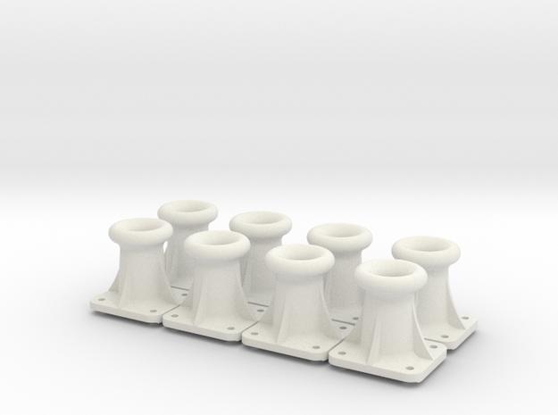 1.125 NSWGR passenger buffer guide casting x 8 in White Natural Versatile Plastic