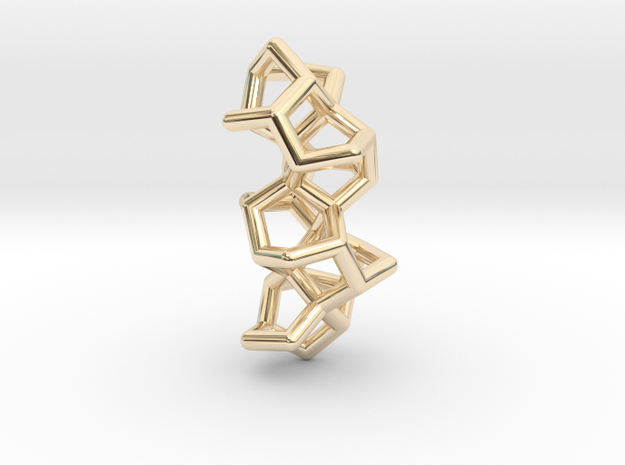 Six Membered Ring Helix III in 14K Yellow Gold