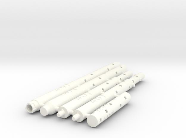 Adapters: Multiple Lamy To D1 Mini in White Processed Versatile Plastic