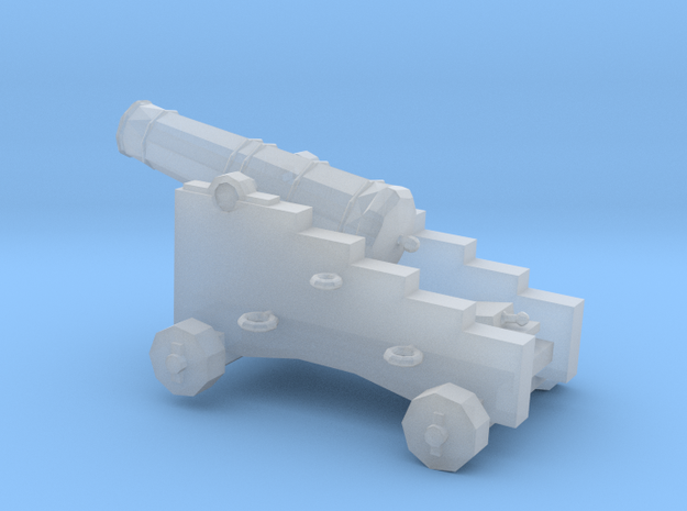 1/96 Scale 6 Pounder Naval Gun in Smooth Fine Detail Plastic