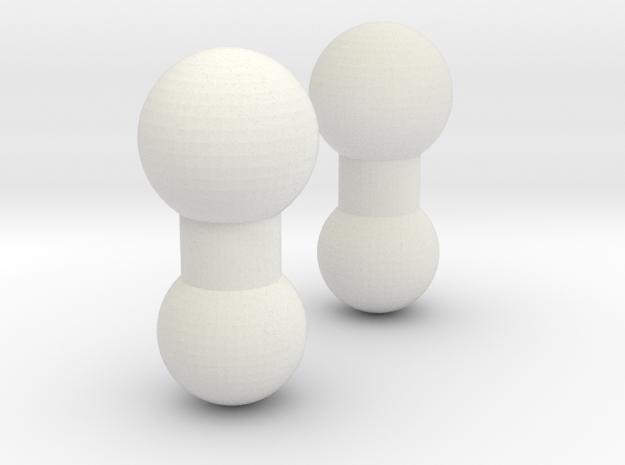 Yuc-neck-peg in White Natural Versatile Plastic
