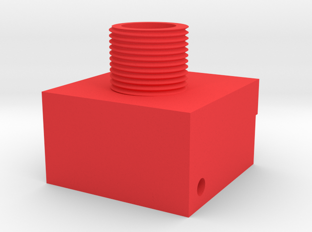 RDP Spectre Threaded Adapter in Red Processed Versatile Plastic