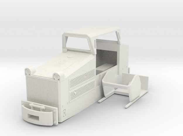 Mining loco RD3a in White Natural Versatile Plastic: 1:35