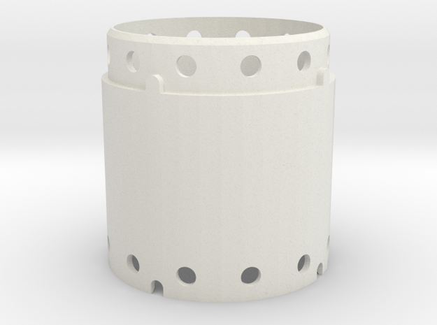 Casing joint 1200mm, lenght 1,00m in White Natural Versatile Plastic