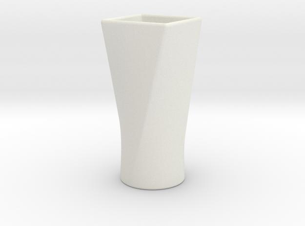 Twist Cup I in White Natural Versatile Plastic