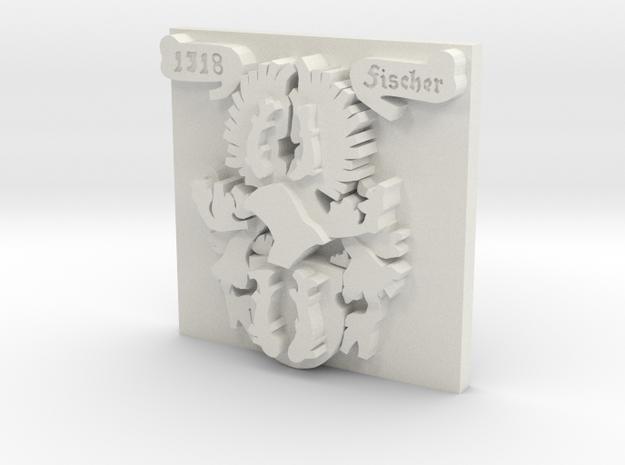 Fischer Crest 1.5 inch by 1.5 inch in White Natural Versatile Plastic