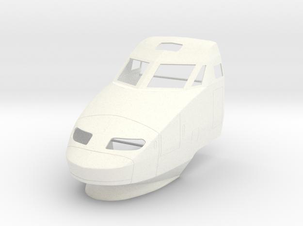 TGV (1:45) in White Processed Versatile Plastic