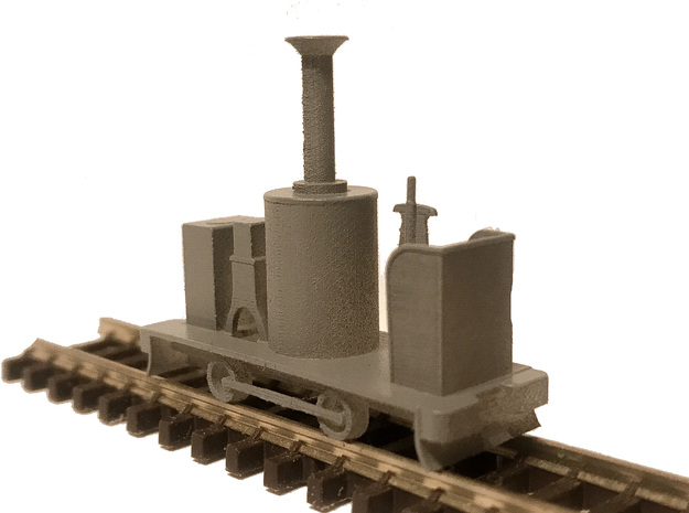 009 Static Redstone Vertical Boiler Locomotive in Smooth Fine Detail Plastic