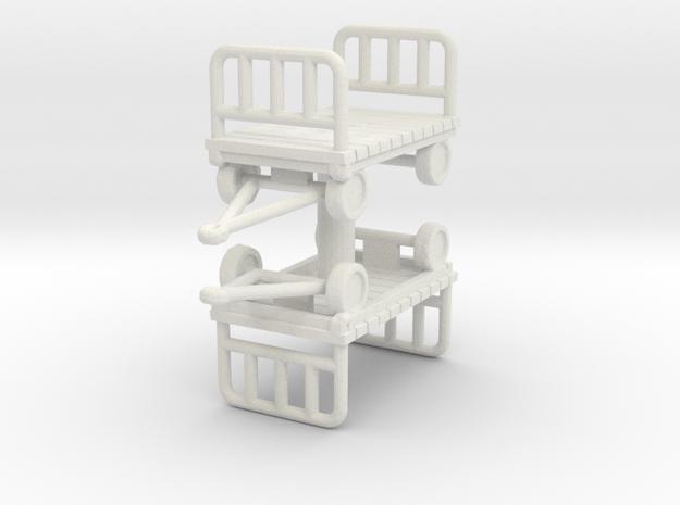 Luggage Cart (x2) 1/100 in White Natural Versatile Plastic