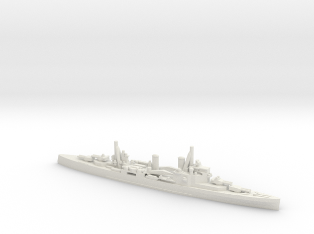 British London-Class Cruiser in White Natural Versatile Plastic