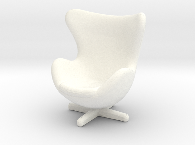 Fh Egg Blackleather-03-small in White Processed Versatile Plastic