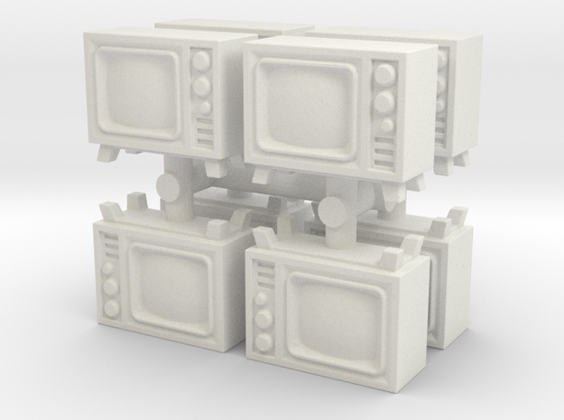 Old Television (x8) 1/120 in White Natural Versatile Plastic
