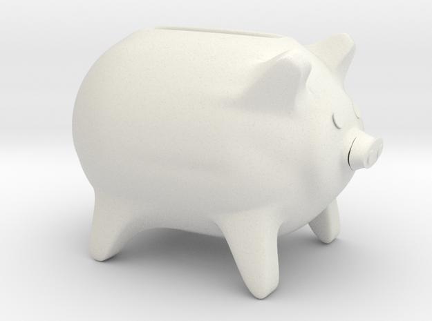 Childs piggy bank in White Natural Versatile Plastic
