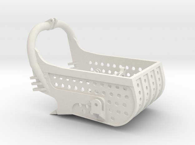 dragline bucket 13cuyd, with holes - scale 1/50 in White Natural Versatile Plastic