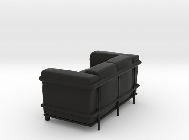 Le-Corbu-Sofa-02 in Black Natural Versatile Plastic