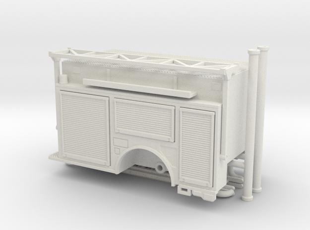 1/87 KME Engine Body Ladder Rack Rollups in White Natural Versatile Plastic