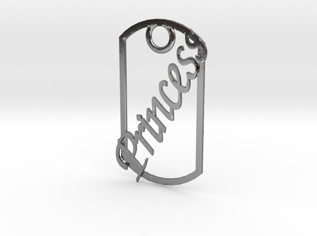 Princess dog tag 3d printed