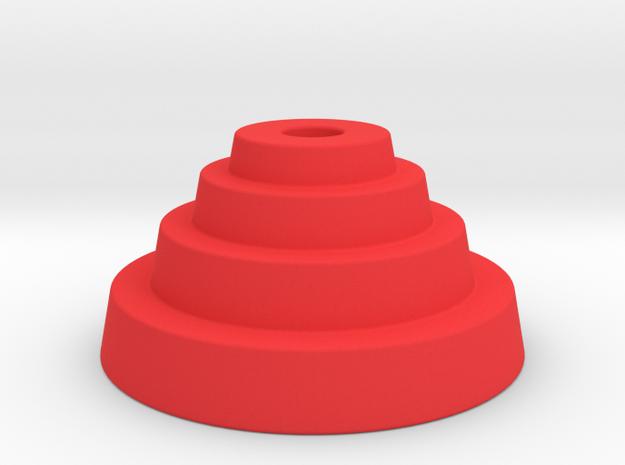 PLA multi stepped hat begleri in Red Processed Versatile Plastic