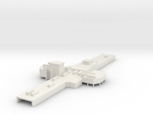 ATL Terminal A Center 1:400 Scale in White Natural Versatile Plastic