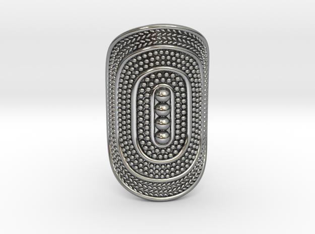 Patterned Boho Ring in Antique Silver