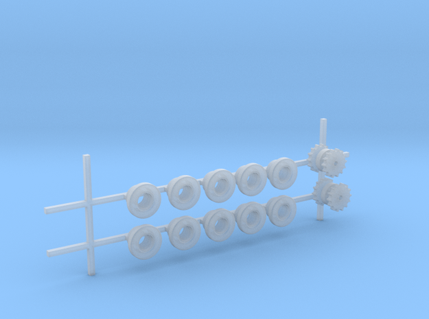 Laufrollen und Antriebsräder in Smooth Fine Detail Plastic