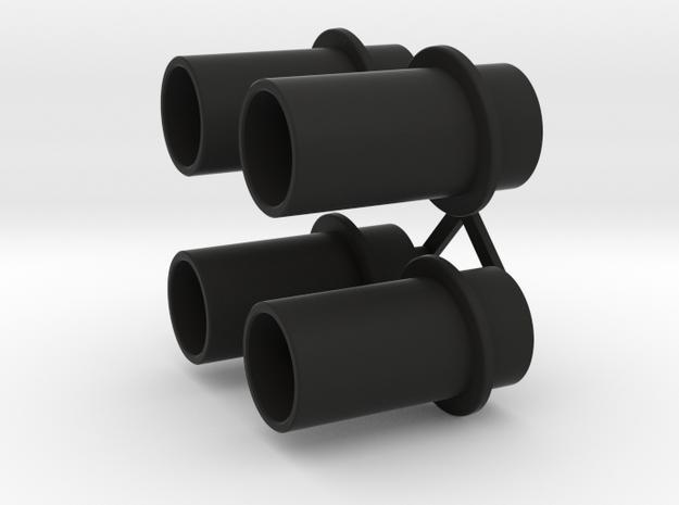 Exhaust Pipes Wellcraft SC38 in Black Premium Versatile Plastic