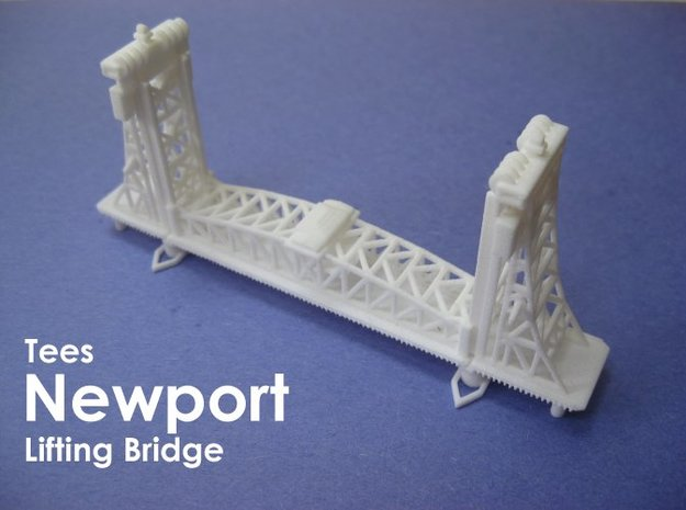 Tees Newport Bridge (1:1200) 3d printed