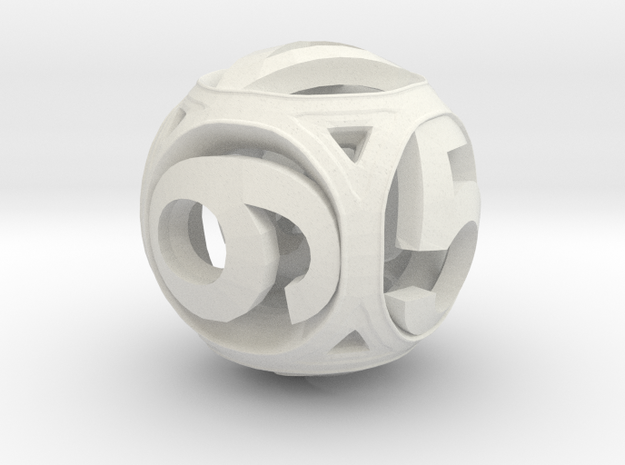 Round Die (Fixed) in White Natural Versatile Plastic
