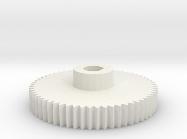 6mm shaft gear for encoder in White Natural Versatile Plastic
