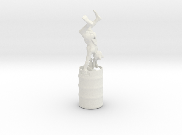 Party Monster Goblin Keg Stand in White Natural Versatile Plastic
