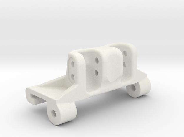 Capra rear axle link mount riser in White Natural Versatile Plastic
