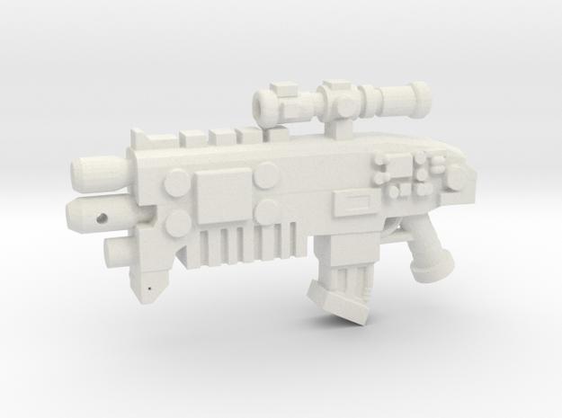 Bolt Rifle in White Natural Versatile Plastic